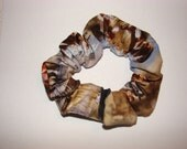 Horse Fabric Hair Scrunchie, women's accessories, running horses on a gray water setting, palomino paint appaloosa, woman's accessory