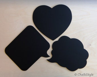 3 Large Chalkboard Speech Bubbles Wedding Photo Props Set -- Chalk Boards Engagement, Wedding, Maternity, Baby Props