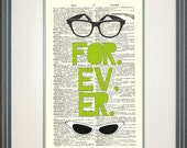 Forever Sandlot Typography Print by Papyrusaurus, Sandlot, Squints, Wendy Peffercorn, movie quotes, funny quotes, glasses, geek love