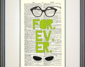 Forever Sandlot Typography Print-  Squints, Wendy Peffercorn, wholesalemovie quotes, funny quotes, glasses, geek love