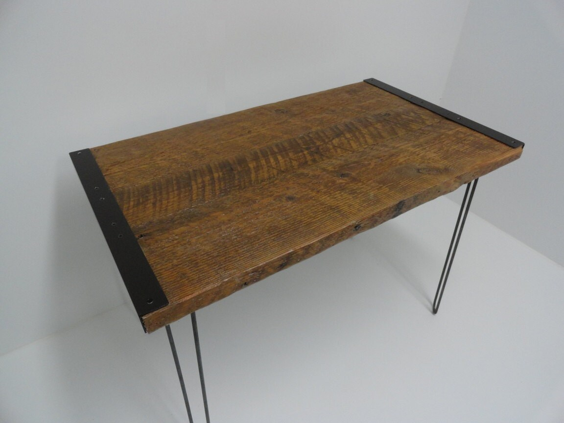 30x42 Industrial Dining Table with Hairpin Legs by MtHoodWoodWorks