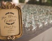 Rustic Glam Signature Cocktail Sign