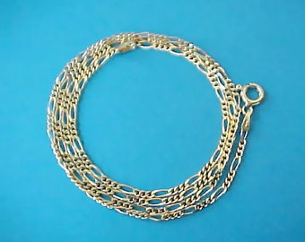 "Lovely 19 3/8"" Gold Over Sterling Silver Chain Necklace"