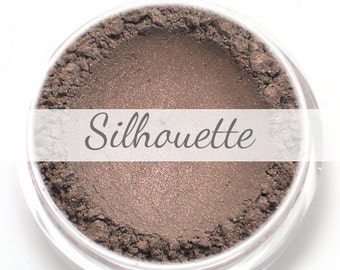 """Eyeshadow Sample - """"Silhouette"""" - smokey taupe with pink/purple sheen (Vegan) Mineral Makeup Eye Color Pigment"""