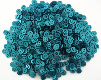 Deep Teal Shirt Buttons, size 10mm (3/8 inch) - matching set of bulk sewing buttons with gift wrap