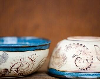 Beachcomber Soup Cereal Bowl-Nautical Sea Shell bowl