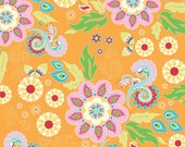 "Clearance**Beautiful fabric Riley Blake  Main Orange ""Madhuri"" by The Quilted Fish. 100% cotton, pattern C3350 Orange - Main 1 yard"