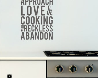 Approach Love and Cooking Wall Decal - Vinyl Wall Words