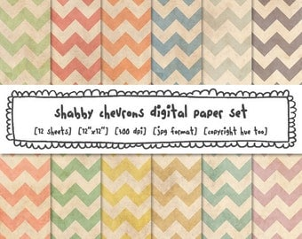 digital paper chevrons, shabby tea stained grunge texture, vintage pastel colors, digital photography backgrounds, instant download - 521
