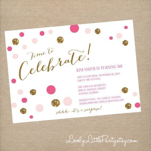 Printable Confetti Birthday Invitation - Lovely Little Party