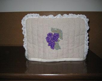 4 Slice Square Toaster Cover Grape Design