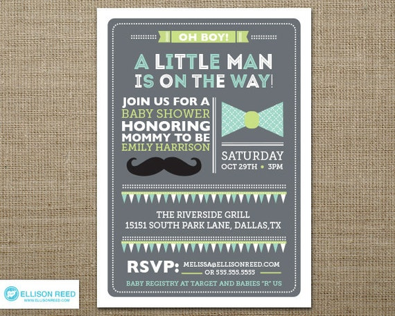 Mustache Invite was best invitations template