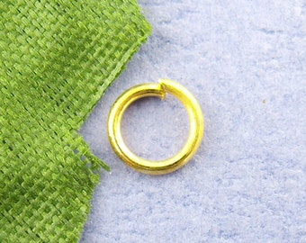 100pcs 9mm Gold Plated Jump Ring - 21 Gauge - Jewelry Finding, Jewelry Making Supplies, Lead Free, Nickle Free, DIY, Ships from USA  - JR44