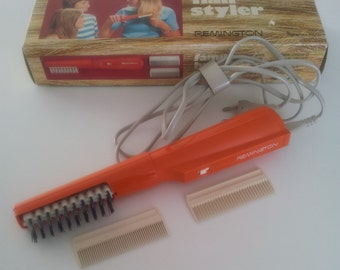 Retro Orange Remington Hair Dryer Styler Made in France