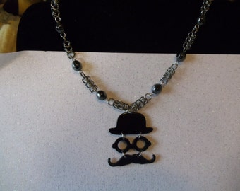 Magnificent Mustache Chainmaille Necklace