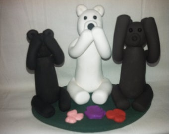 Polymer clay - See No Evil, Speak No Evil, Hear No Evil Bears
