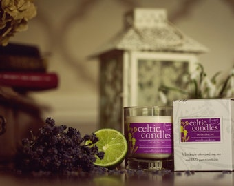 Lavender & Lime Essential Oil Candle - large