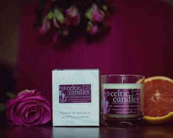 Rose Geranium & Pink Grapefruit Soya Candle - Pure Essential Oils