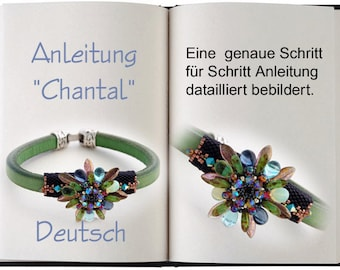 Jewelry Tutorial...Chantal... Anleitung in Deutsch / German. Armband... Lederarmband
