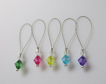 Gem knitting stitch markers