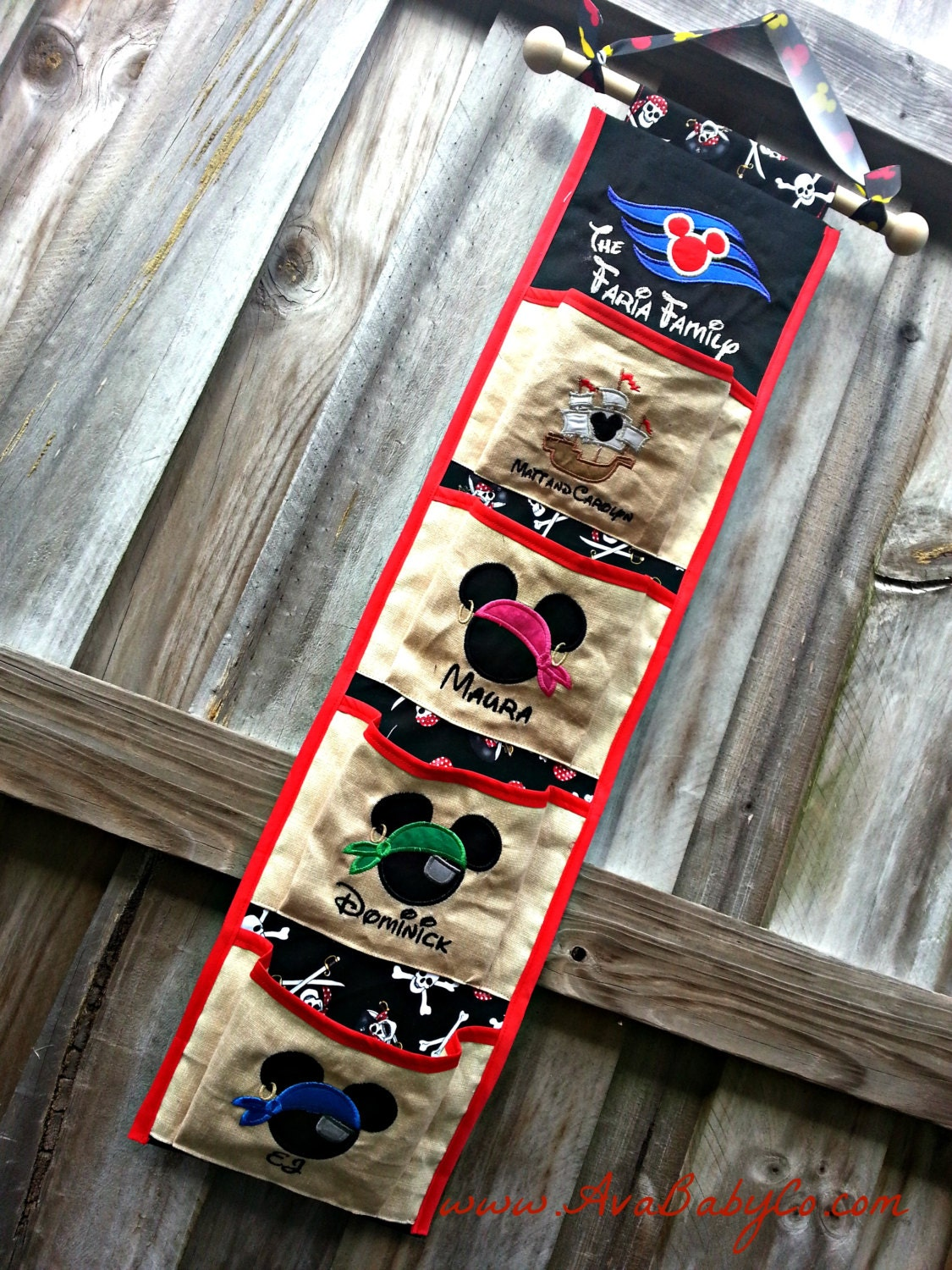 Four pocket fish extender pirate ship for disney cruise for Disney cruise fish extender