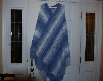 Poncho hand chrocheted one size fits most