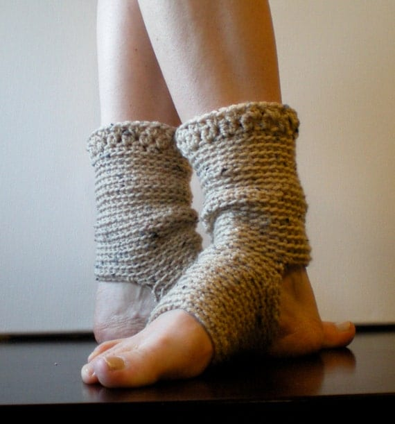 Crochet Pattern Yoga Socks : PATTERN: Yoga Socks Dance Pilates Ballet Leg Warmers