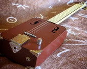 Electrifried 4-String Cigar Box Guitar w/ Single Pickup and Volume