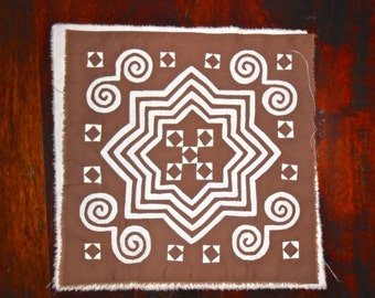 Intricate Quilt Mola Block FREE SHIPPING