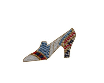ID #7409 Multicolor High Heel Fashion Iron On Embroidered Patch Applique