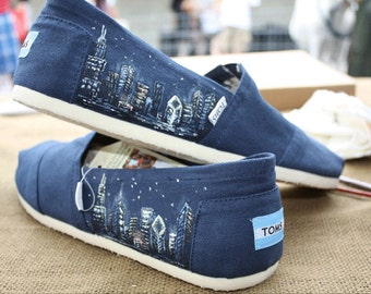 Custom hand painted TOMS shoes