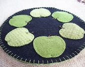 Green Apple Candle Mat