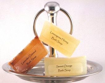 BATH SOAP FAVORS - Lemongrass Honey / Lavender Oatmeal Soap - Travel Size / Bridal Shower Favors Minis