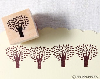 40% OFF SALE tree Rubber Stamp (20mm)