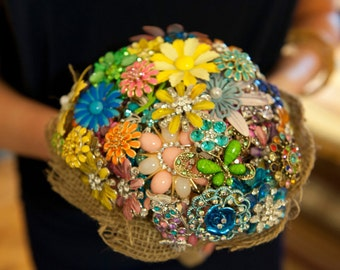 Brooch Bridal Bouquets Made to order