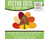 Turkey Vector Digital Cut File (eps,svg, gsd,dxf, ai, jpg, png)