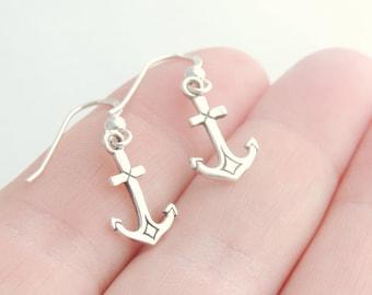 Silver Jewelry, Silver Earrings, Nautical Earrings, Nautical Jewelry, Earrings, Jewelry, Anchor Earrings, Anchor Jewelry, Silver