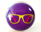 Nerd Glasses - Geek Ring - Geekery - Purple - Retro - Gift - Snow Globe Ring - Retro Jewelry - Cocktail Ring - Ring - Nerd Jewelry