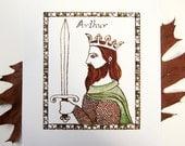 "King Arthur Nursery Art Print - ""Arthur"""