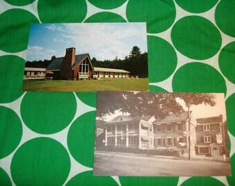 Vintage 1958 Green Mountain Inn & Motel Stowe Vt B/W Photo Postcard used  Alpine Motor Lodge used Postcards