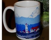 Lighthouse Large Coffee Mug 15 Oz