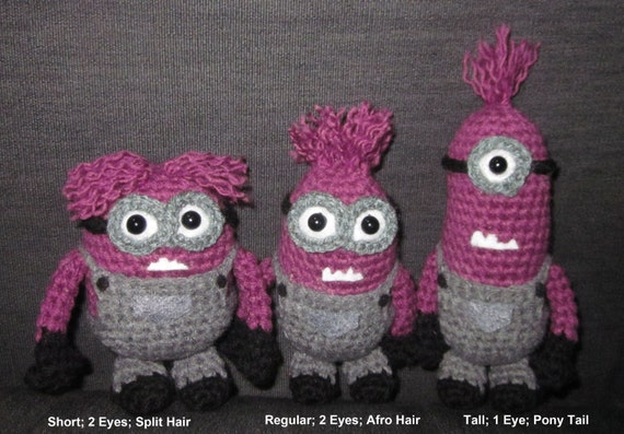 Amigurumi Minion Etsy : Custom Crochet Amigurumi Minions by JNArts on Etsy