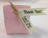 Thank You for Pennant Flag Wedding Favor Tags - Cream Ivory Personalized Tags