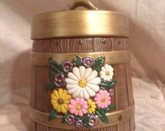 Barrel Cookie Jar