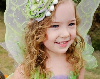 Tinkerbell Headband- Baby Girl Headband- Infant Headband-Baby Headbands-Newborn Headband-Flower Girl--Photo Prop