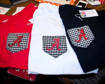 Pocket Tee's with your favorite college team.....