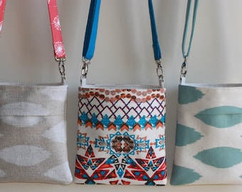 CHOOSE Your Own Fabric- SMALL CROSSBODY Handbag/ Purse/ Hipster with Adjustable and Interchangeable Straps