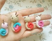 Amigurumi Snail pattern pdf 12 - instant download - Permission to Sell Finished Items