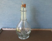 Vintage French Four Chamber Decanter / Oil & Vinegar Decanter / Handblown Glass