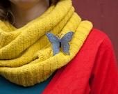 Butterfly Brooch Blue brooch Plastic Pin